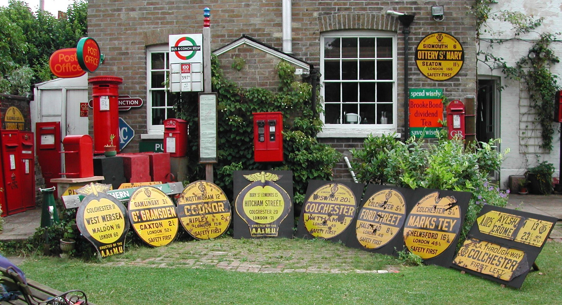 The AA Village Signs display